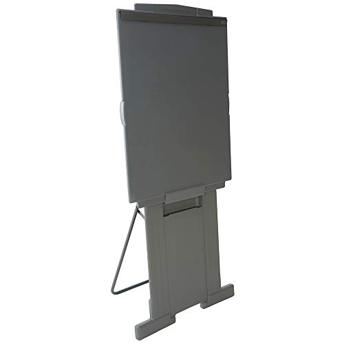 Quartet Easel, Adjusts 39 to 72 inches High, Collapsible, Portable, Whiteboard, Flipchart Holder, DuraMax Presentation, Gray (200E)