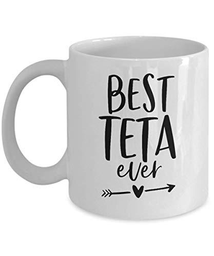 N\A Taza de café Teta - La Mejor Taza de Teta - para Navidad Cumpleaños Día de San Valentín Día de la Madre Día de los Abuelos