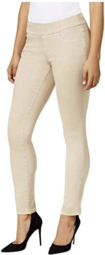 NINE WEST Heidi Pull-On Skinny Jeans (Creamstone, 14)