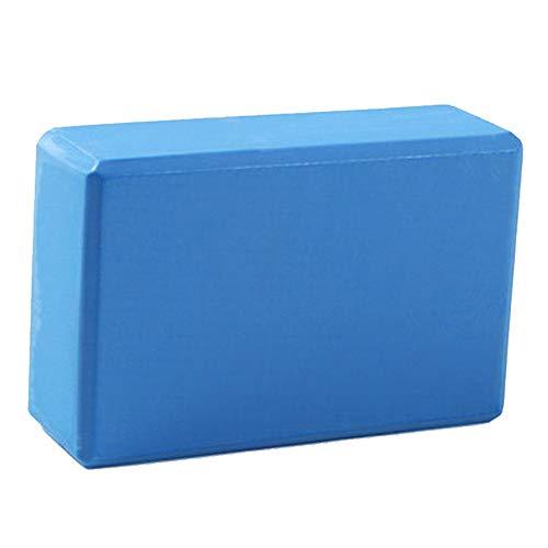 Bloque de yoga ZMXZMQ (2 piezas), bloque de espuma EVA de alta densidad, superficie ligera y antideslizante, para apoyar y profundizar las posturas, para el hogar o el gimnasio, azul, L