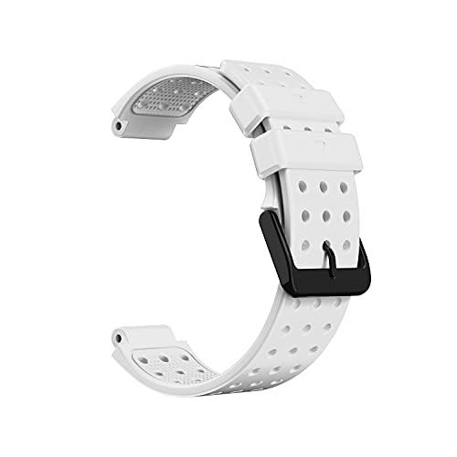 Correa de Repuesto Silicona Suave Impermeable Ajustable a Prueba de Sudor Pulsera Elegante Y Simple para Reloj Inteligente Advance S20 Adecuado para Hombres Y Mujeres