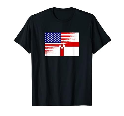 USA Ulster バナー 北アイルランド国旗 先祖 遺産 Tシャツ