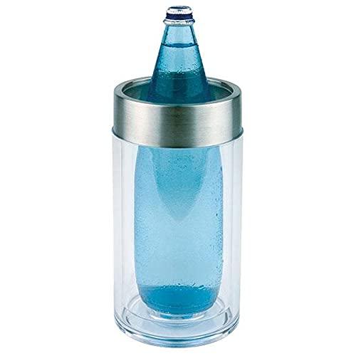 APS glacette, a doppia parete diametro 11,5 cm (esterno)/diametro 9,5 cm (interno) Altezza 23 cm, in vetro trasparente in acrilico Anello in 18/8 in acciaio INOX, opaco