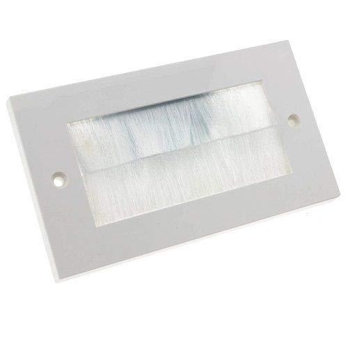 CABLEPELADO Placa Frontal Rectangular para Salida Cable Pared Blanco