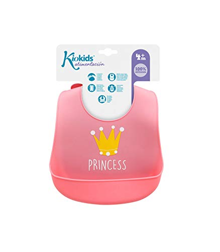 Kiokids 1620 - Babero de silicona enrollable, unisex, color