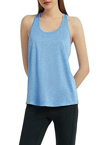Funthing Camiseta Deportiva Mujer Camiseta sin Mangas Deportiva Tirantes Tank Top Clásico Chaleco para Fitness Yoga Correr Mujer