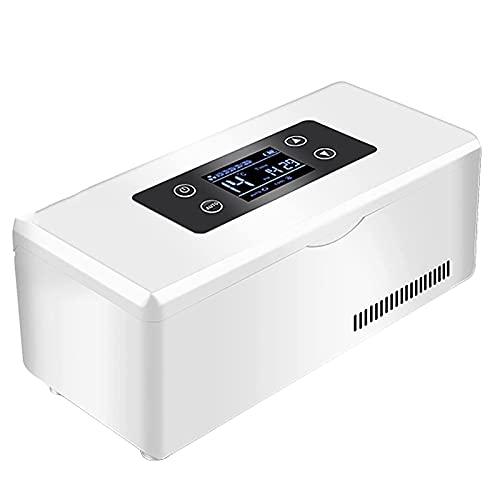 Joyfitness Enfriador De Insulina, Refrigerador De Medicamentos Batería Incorporada Carga USB, Pantalla LED Portátil Refrigerador De Medicamentos Carga Inteligente, Refrigerador De Medicamentos