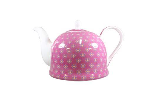 Jameson & Tailor Iglu Teekanne Kaffeekanne Pink/Blümchen Brillant-Porzellan 1100ml Füllmenge