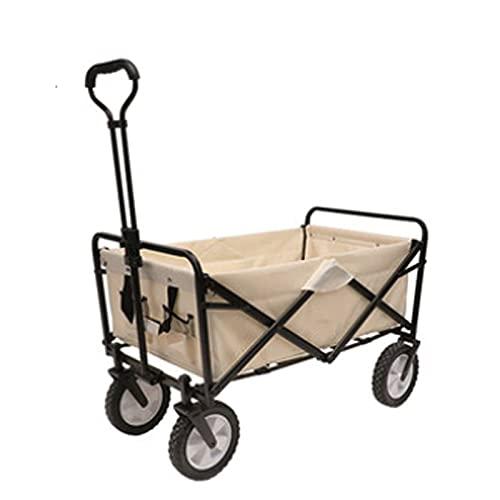 Z-SEAT Carrito portátil para Acampar al Aire Libre, Carrito de Transporte para la Playa, 360 & deg;Ruedas, Capacidad hasta 100Kg, Pasamanos Ajustables, Pesca, Camping, Ext