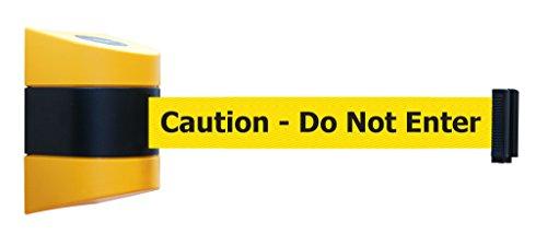 Tensabarrier 897-30-S-35-NO-YAX-C Standard-Kappen mit gelbem Gurtband und schwarzer Aufschrift Caution - Do Not Enter Standardgürtelende, 30'