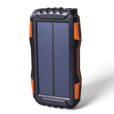 GPWDSN Solar powerbank 25000 mAh, draagbare oplader oplader op zonne-energie met 2A ingangen en 2 USB-uitgangen, hoge capaciteit externe accu voor tablets en smartphones