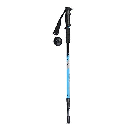 MONEYY Revenu d'escalade Ultra-léger Pliage Canne télescopique Canne bâton de randonnée équipement d'extérieur 135cm