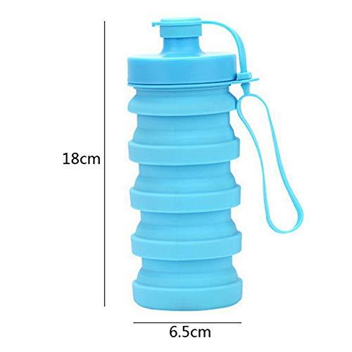 Youzhishui Siliconen Opvouwbare Waterfles Klimmen Lopen Draagbare Inklapbare Sport Fles Drinkware Keuken Accessoires