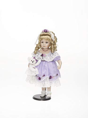 RF Collektion Sammlerpuppe, Künstlerpuppe, Porzellanpuppe mit Teddy 53cm 119916