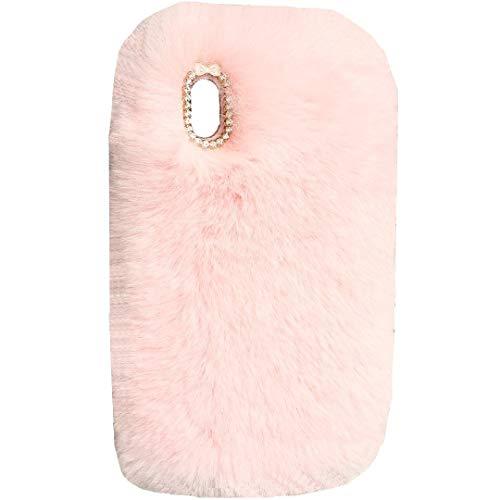 TAITOU - Funda para Sony Xperia Z5 (hecha a mano, con forma de bola de lana, suave y cálida, para invierno, diseño completo, ligera, protección delgada, para Sony Xperia Z5, color rosa