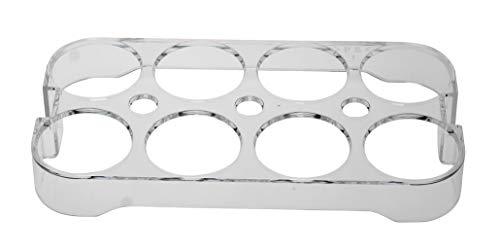 Soporte universal para huevos 2661 para frigorífico, nevera y congelador, para hasta 8 huevos, dimensiones: 2,5 x 18,5 x 9,5 cm (comprobar las dimensiones).