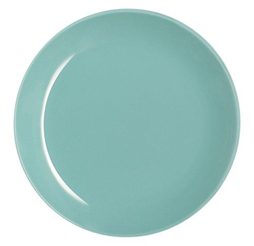 LuminarcArty Soft - Plato Llano de Vidrio de Color Verde Agua. Dimensiones: 20x 20x 2cm