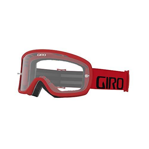 Giro Tempo MTB Unisex Dirt Mountain Bike Goggles - Red, Clear Lens (2021)