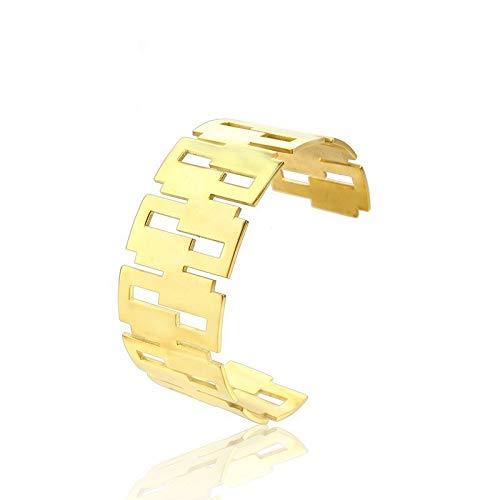 Burenqi Hoog Gepolijst RVS Holle Brede Manchet Armband voor Vrouwen Mannen Goud Rose Goud en Zilver Beschikbaar