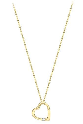 Carissima Gold Damen - Kette 9 k (375) Rundschliff Diamant 1.45.9084