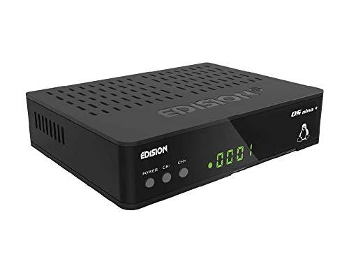 Edision OS NINO+ Full HD Linux E2 Sat Receiver H.265/HEVC (1x DVB-S2, 2x USB, HDMI, LAN, Linux, Kartenleser, 1080p) [Vorprogrammiert für Astra] inkl. 1,5 m HDMI Kabel