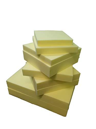 Cloe' Louis Memory Foam Sheet Off-cut cut to Size High Density Cushion Seat Pad Sofa Replacement Bench Foam Loaf (12