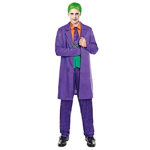 H HANSEL HOME Disfraz Bufón Adulto + Peluca - Hombre - Incluye Traje + Pantalón Cosplay/Carnaval/Halloween Size M