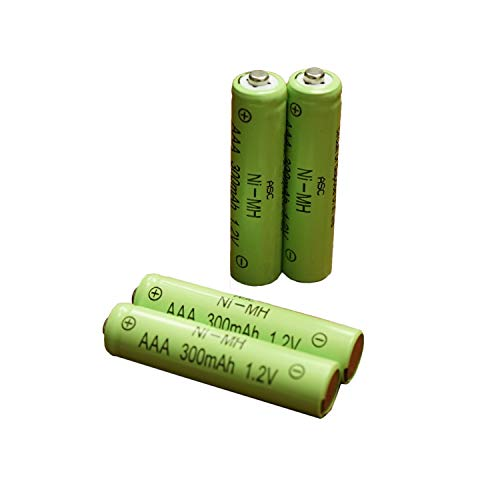 ASC Solar Light AAA Ni-MH Rechargable Batteries for Solar Lights (Pack of 12) (AAA 300mAh)