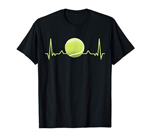 Tennis Balls Giocatore di tennis Tennista Cardiogram Tennis Maglietta