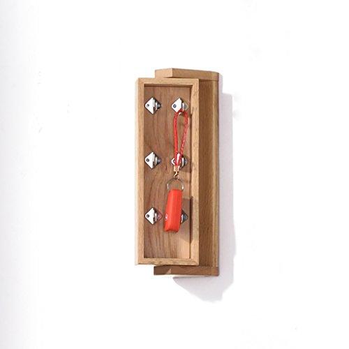 Porte-manteau Étagère murale en bois massif Nordic Porte d'entrée suspendue Multifonction Boîte à clés Miroir de dressing