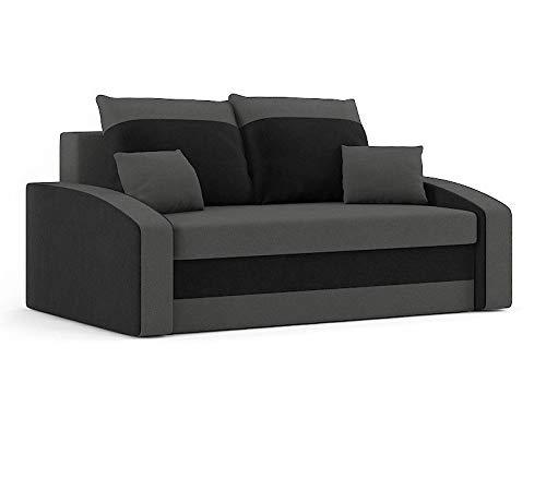 Sofini Sofa Hewlet mit Schlaffunktion! Best Sofa! 2- Sitzer Sofa! (Haiti 14+ Haiti 17)