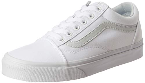 Vans Old Skool – Zapatillas Unisex para Adulto, Blanco Verdadero, Men's 10, Women's 11.5 Medium