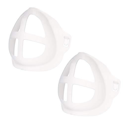 LUCKME Mundschutz Halterung Erwachsene 3D Face Bracket, Wiederverwendbare Atmen Stützrahmen Innenkissen Atmungsaktiv Innenpolster Halterung Lippenstift Schutz Halter