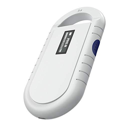 VBESTLIFE Portable Handheld Tier Chip Reader,Haustier Microchip Scanner Universal RFID Reader für ISO11784 / 5, FDX-B, ID64
