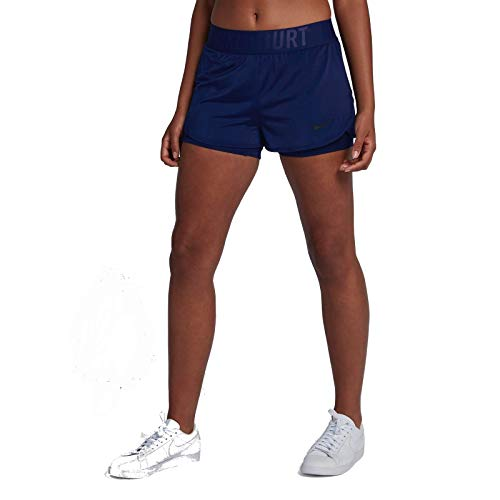 Nike Dri-Fit Ace Tennis-Shorts für Damen XL Blue Void/(Black)