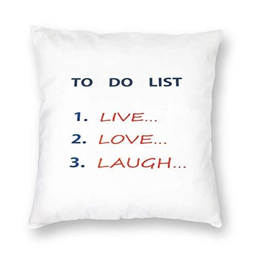 Fundas de almohada para hacer lista, diseño con aspiraciones para alcanzar una ilustración colorida, funda de cojín decorativa para decoración del hogar, sofá, almohada decorativa de 55,8 x 55,8 cm