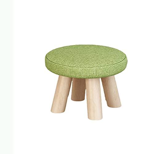 GLALAXY Taburete móvil móvil 4 Patas Sofá Moderno de Lujo tapizado de Madera Maciza (Color : Style B)