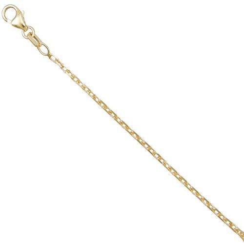 Halskette, Gliederkette,diamantiert, massiv, echtes Gelbgold, fürDamen oder Herren, 50cm