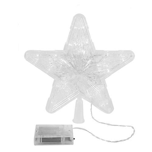 Tbrand QYJ Weihnachtsbaum-Deckel LED-Stern-Licht-Batterie betrieben Weihnachten Weihnachten Neujahr Treetop Dekoration for Heim (Color : Gold)
