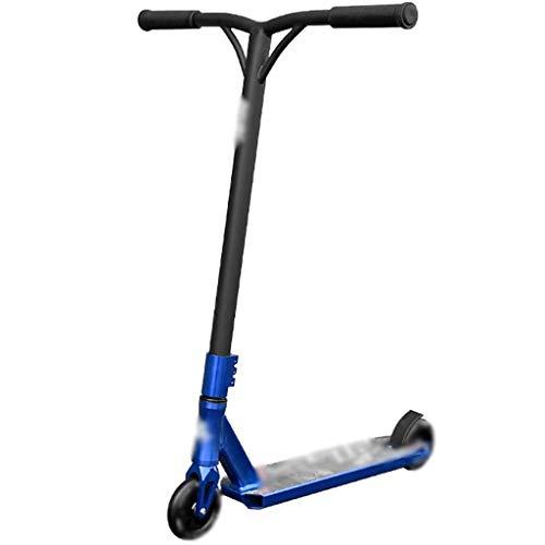 Patinete Kick Scooter para Adultos Adolescentes, Patinete Acrobáticos Elite Pro, Scooter De Truco De Estilo Libre, Listo para La Competencia Avanzada (Color : Blue, Size : 51 * 59 * 86cm)