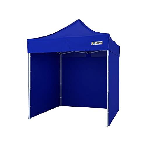 Party zelt Exclusive BRIMO ® Komplett 3 volle Wände + 8 Verankerungsdübel und Schutzhülse Gratis! (2x2m, Blau)