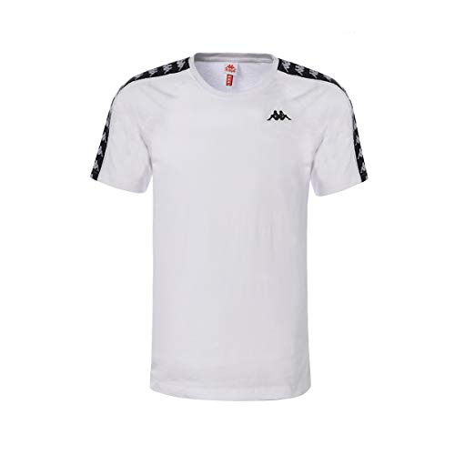 Kappa T-Shirt Cotone 303UV10 White - Black Size:S