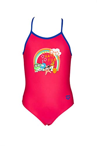 Arena AWT Costume da Bambina con Protezione UV, Rosa (Freak Rose-Neon Blue), 1-2