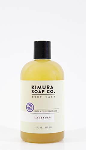 Kimura Soap Lavender Body Wash 12 oz Organic All Natural Moisturizing Body Wash Soap. American Made With Essential Oils. Gluten Free, Vegan, Cruelty Free Soap For Active Men and Women