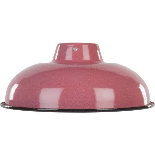 Vintage/antieke stijl industriële reproductie retro metalen lampenkap met lichtroze emaille afwerking