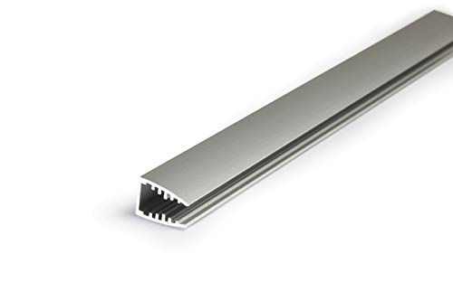 Alumino Eloxiertes Glaskantenprofil für 10mm LED-Streifen - WOLGA