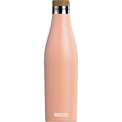 SIGG Meridian Shy Pink Gourde isotherme (0,5 L), gourde acier inoxydable étanche et sans substances nocives, bouteille d'eau pour boissons chaudes & froides