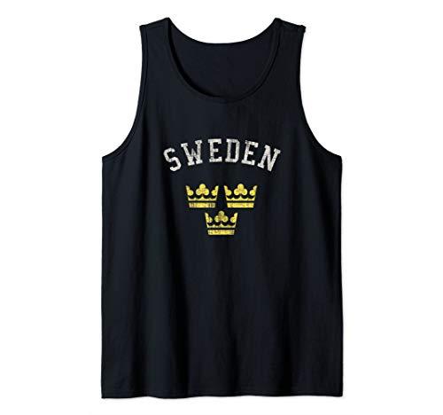 Sweden Three Crowns National Pride Tank Top