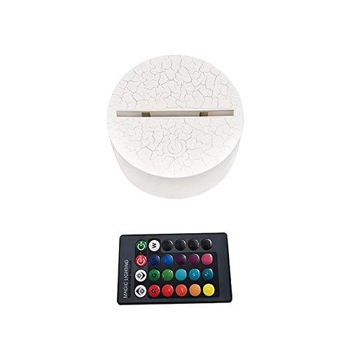 Lámpara de bajada acrílica 3D con forma de gorra, luz afectada con mando a distancia para niños y dormitorios, decoración de mesita de noche