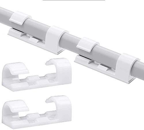 200 piezas Home Essentials Finisher Wire Clamp, Sujeta Cables Pared Soporte Cables Escritorio Sujeta Cables Adhesivo (Transparente)